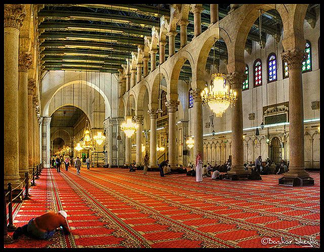 Inside the Umayyad Mosque !  Damascus, Syria !