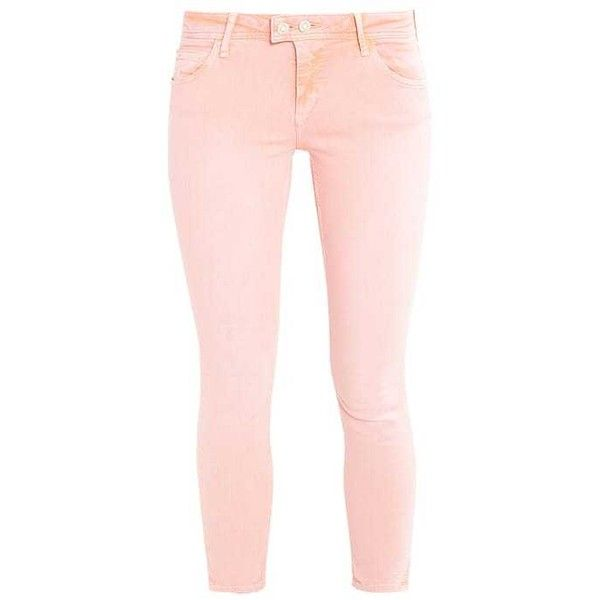 ADRIANA Jeans Skinny Fit peach ($62) ❤ liked on Polyvore featuring jeans, peach skinny jeans, super skinny jeans, pink skinny jeans, skinny leg jeans and skinny jeans
