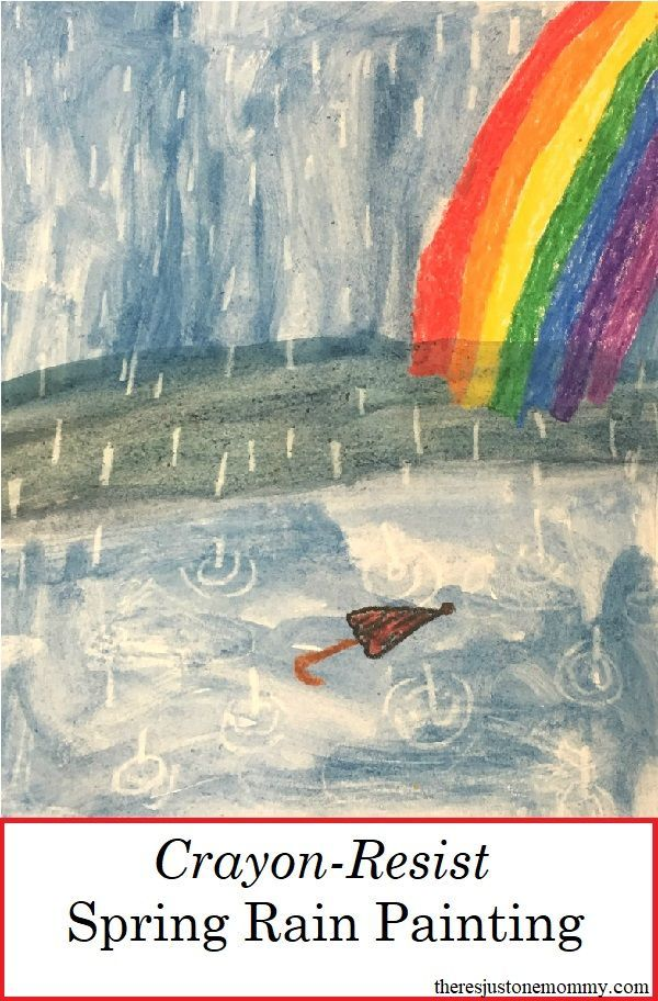 Celebrate April showers with Crayon Resist Painting