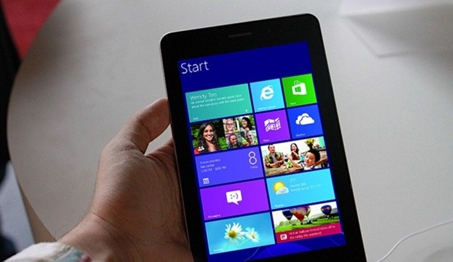 Windows 8 s-a echilibrat pentru tablete de 8 inci