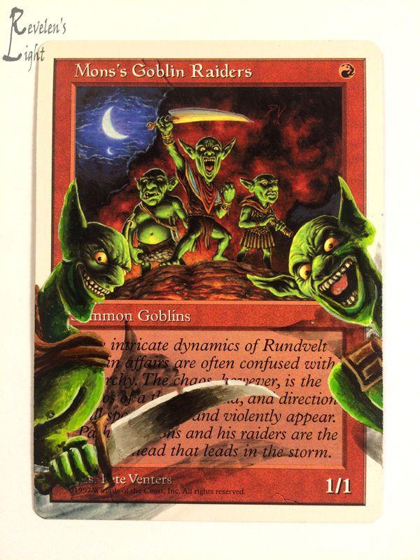 Mons's Goblin Raiders - MTG Alter - Revelen's Light Altered Art Magic Card #WizardsoftheCoast