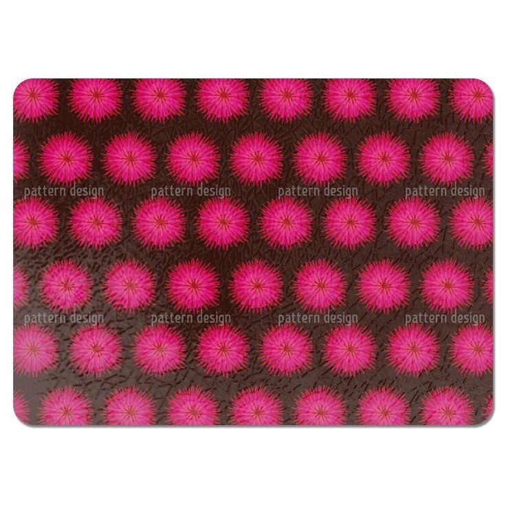 Uneekee Dahlia Pink Placemats (Set of 4) (Dahlia Pink Placemat) (Polyester, Floral)