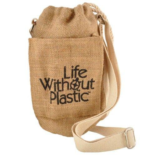 Plastic-Free Jute Water Bottle Bag