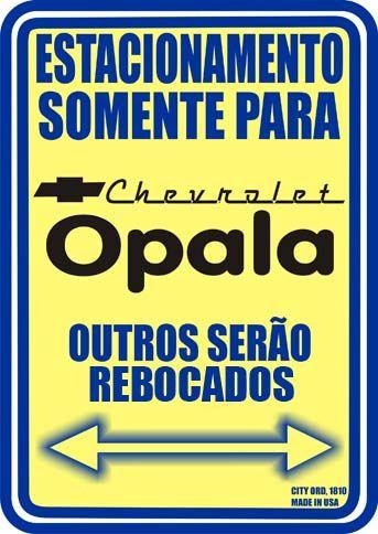 17391GM - CHEVROLET - OPALA - Estacionamento somente para Chevrolet Opala* S - 29x41-