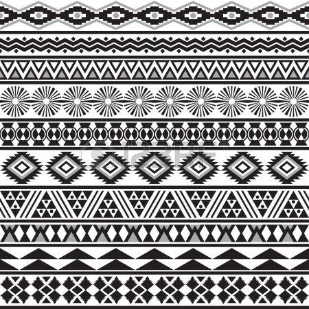 Tribal transparente ray e motif g om trique noir blanc fond Nuancier de seamless inclus dans le fich Banque d'images