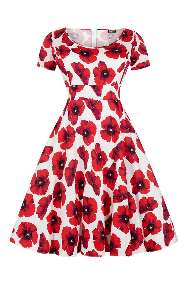 Červené Retro Šaty Blanka Straka Lady V London