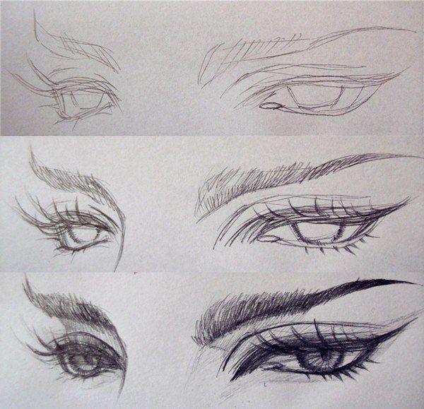 Глаза в стиле манга/аниме пошагово / IP Neo