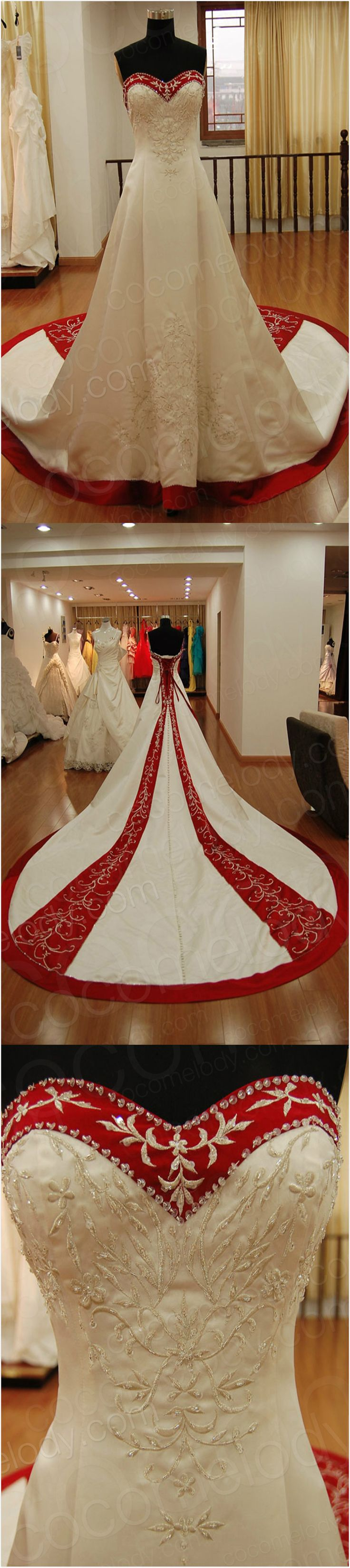Vintage Wedding dress, do you love it? some b2bs wanna change red into different colors!