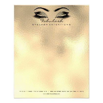 Beauty Studio Lashes Makeup Stylist Artist Gold Flyer - rose gold style stylish diy idea custom