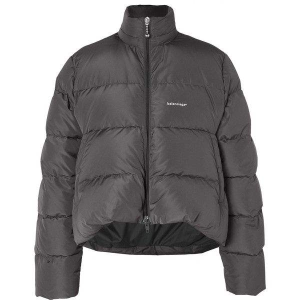 Balenciaga Oversized Quilted Shell Down Jacket ($2,190) ❤ liked on Polyvore featuring men's fashion, men's clothing, men's outerwear, men's jackets, men's shell jacket, mens oversized denim jacket, mens quilted down jacket and mens quilted jacket