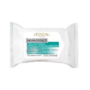 Brinda confort a tu piel con las toallitas desmaquillantes, de Hidra Total 5, que LOreal Paris tiene para ti.