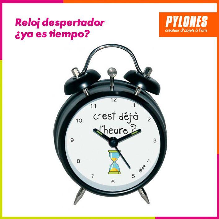 Reloj despertador llegó el momento #Hogar #Casa #Color