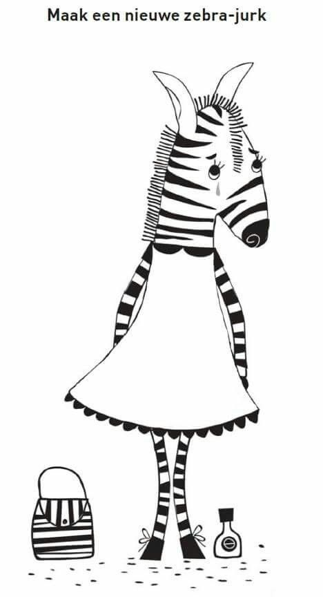 Zebra - tekening afmaken