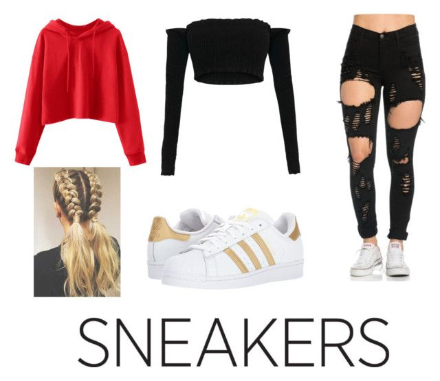 """""""Sneaker Fun 👟"""" by ashworthjessica on Polyvore featuring adidas Originals"""