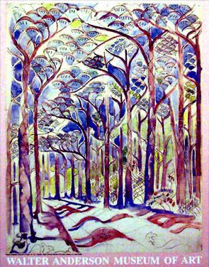 """walter anderson print, I had this print before Katrina. """"The Road to Old Fields"""""""
