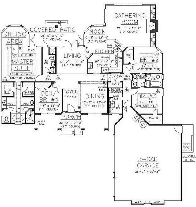 117 best house plans 2 500 3 000 sq ft images on for How big is 2500 square feet