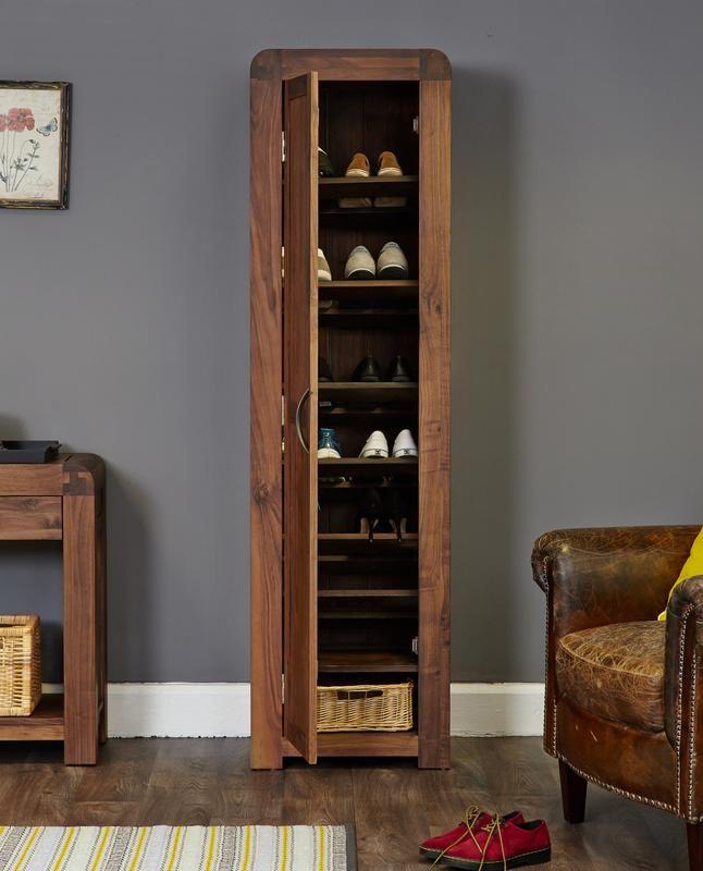 Salem Walnut Tall Shoe Cupboard