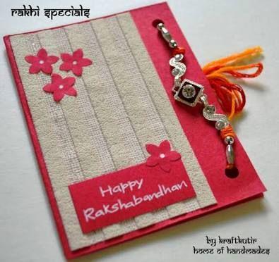 Image result for hand made rakhi designs card