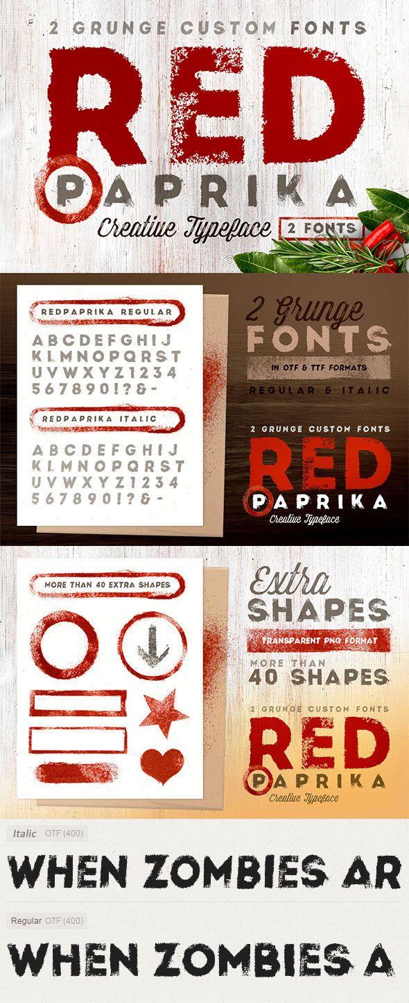 Red Paprika  Custom Fonts #design #type #letter Download: Http: