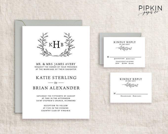 wedding stationery template