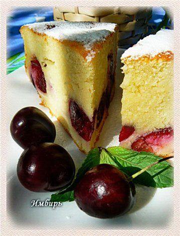 Классический пирог с черешней : Простые рецепты для вкусной жизни