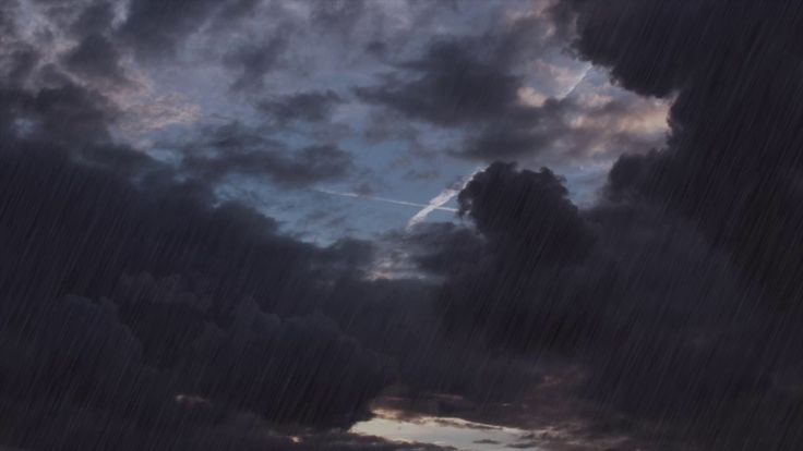 Rain Clouds  - 1 HOUR of Rain and Thunder Sounds for Stress Relief and S...