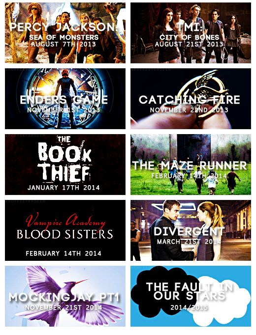 Awesome books to movies! I've read 7 of these so far! :)