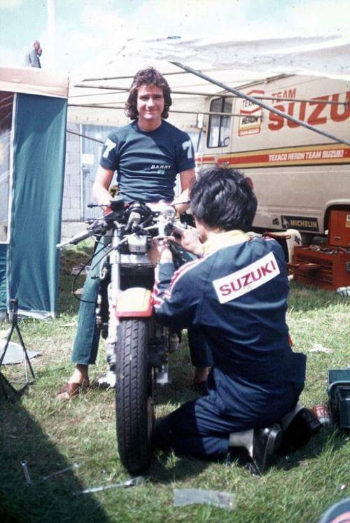 Barry Sheene 1977 GP Assen