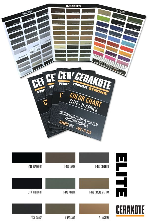 The 2018 Cerakote Color Chart Features Over 100 Colors From H Series And Elite Line Of Ceramic Coatings