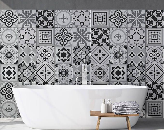 Ps00089 Braga Adhesive Decorative A Carreaux Pour Salle De Bains Et Cuisine Stickers Carrelage Collage Des Tuiles Adhesives Carrelage Adhesif Tuile Carrelage Salle De Bain
