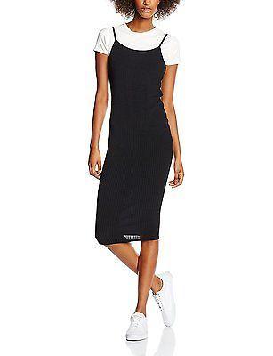 18, Black, New Look Women's Ribbed Dress NEW