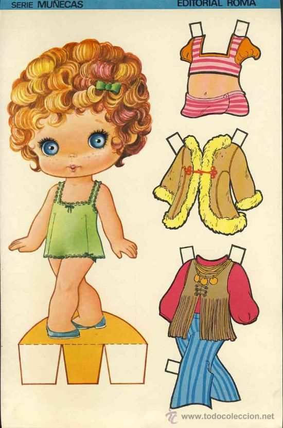 Coleccion completa 10 recortables muñecas EXTRA RECORTE Ed.Roma. Doble hoja cartulina (v.fotos adic) - Foto 5