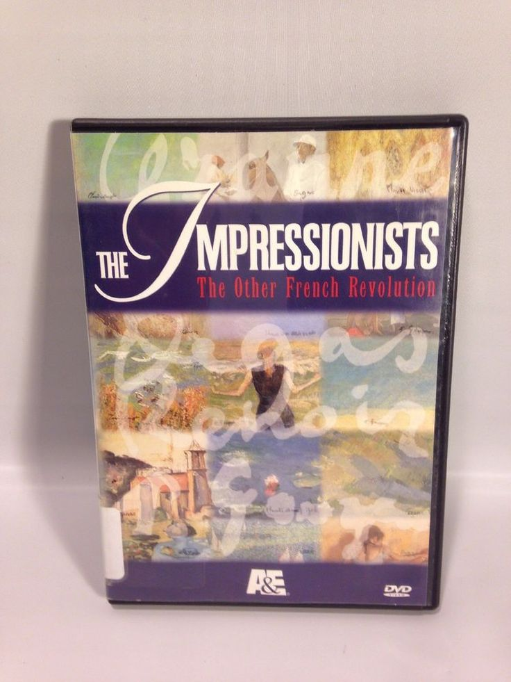 THE IMPRESSIONISTS: THE OTHER FRENCH REVOLUTION  2 DISC DVD SET A&E! Ex-Library