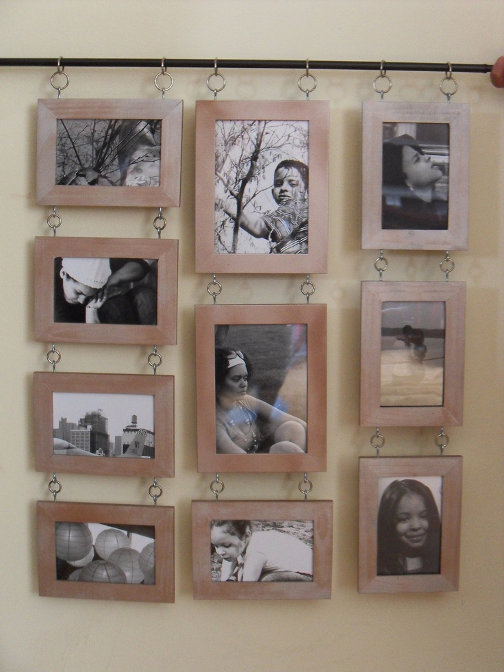 Like this idea, but i can do that or...collage picture frames. $85.00, via Etsy.