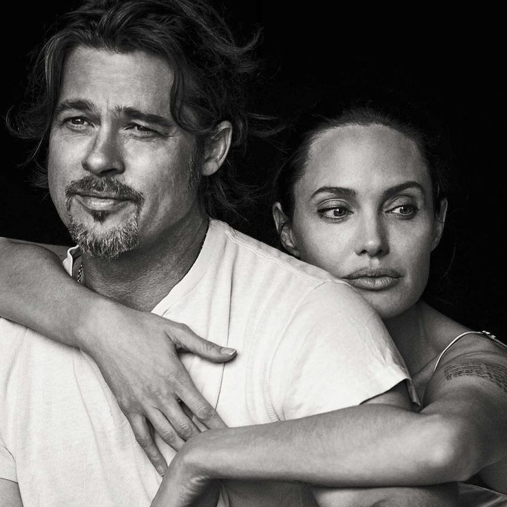 """Hollywood power-couple, Angelina Jolie Pitt and Brad Pitt, photographed by Peter Lindbergh (@therealpeterlindbergh) for Vanity Fair Italia November 2015…"""