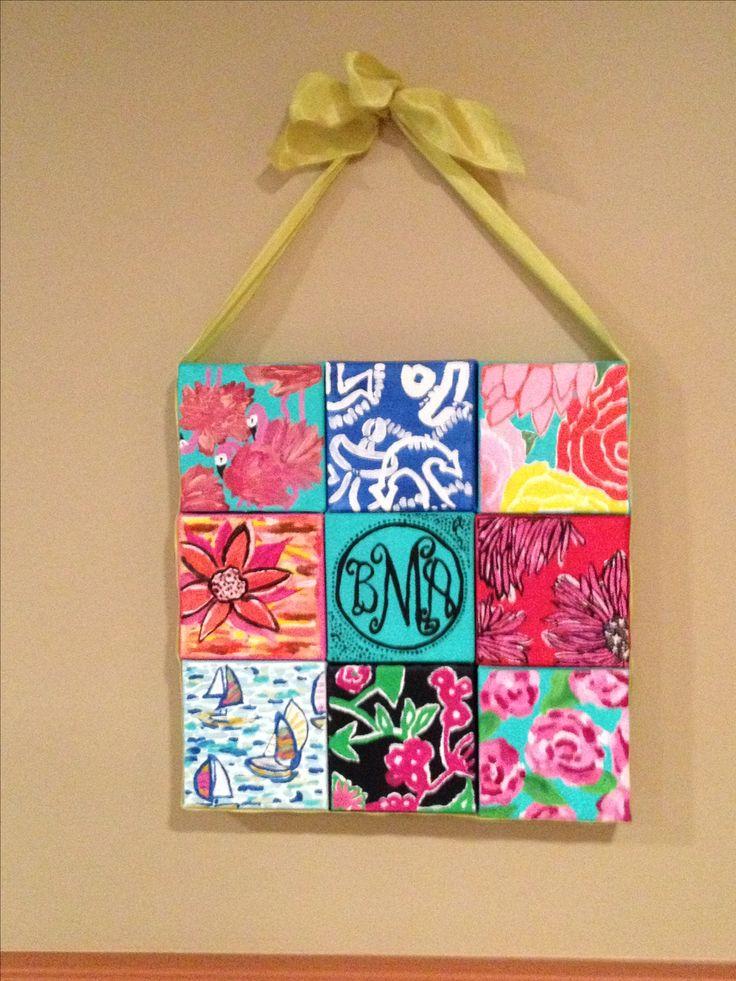 handmade diy canvas dorm decoration lilly dorm - Diy Dorm Decor