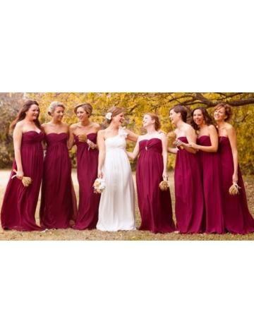 Natuurlijk  Chiffon Bruidsmeisje jurken