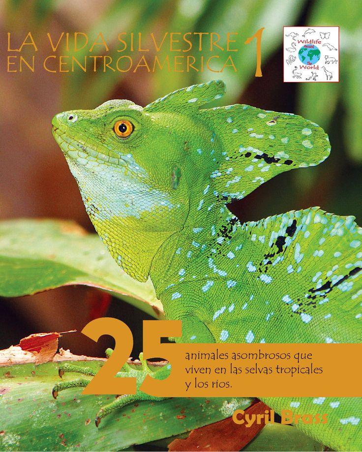 La vida silvestre en Centroamerica 1; 25 animales asombrosos que viven en als selvas tropicales y los rios.   Serie Wildlife Around The World. Photografia y Texto de Cyril Brass.