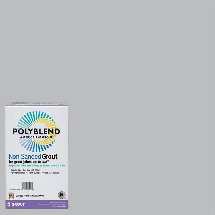 Custom Building Products Polyblend #165 Delorean Gray 10 lb. Non-Sanded Grout-PBG16510 | $13.87