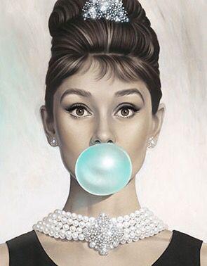 Audrey Hepburn Bubble Gum.