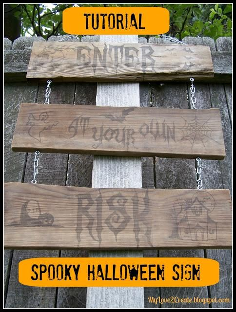 DIY Halloween: DIY Spooky Halloween Sign: DIY Halloween Decor