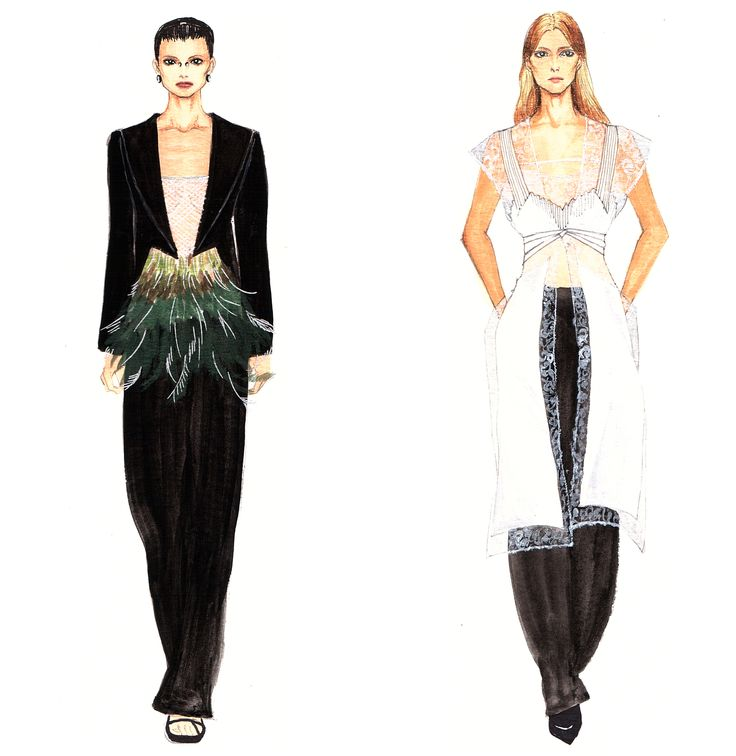 #givenchy #2016ss #runway #fashionillustration #fashionillustrator #fashion #readytoewear #fashiondrawing #sketch #style
