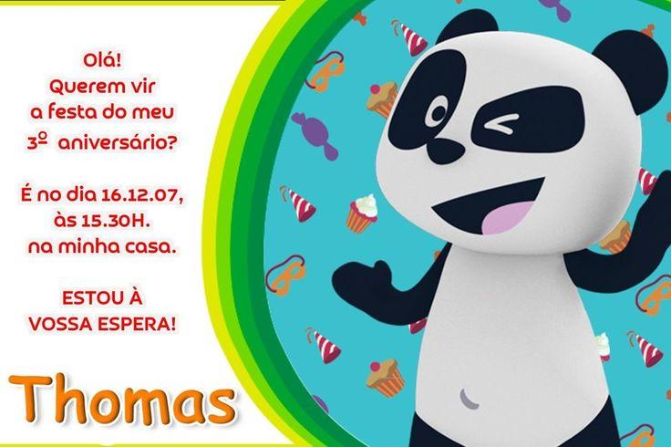 Convite digital personalizado Canal Panda 012