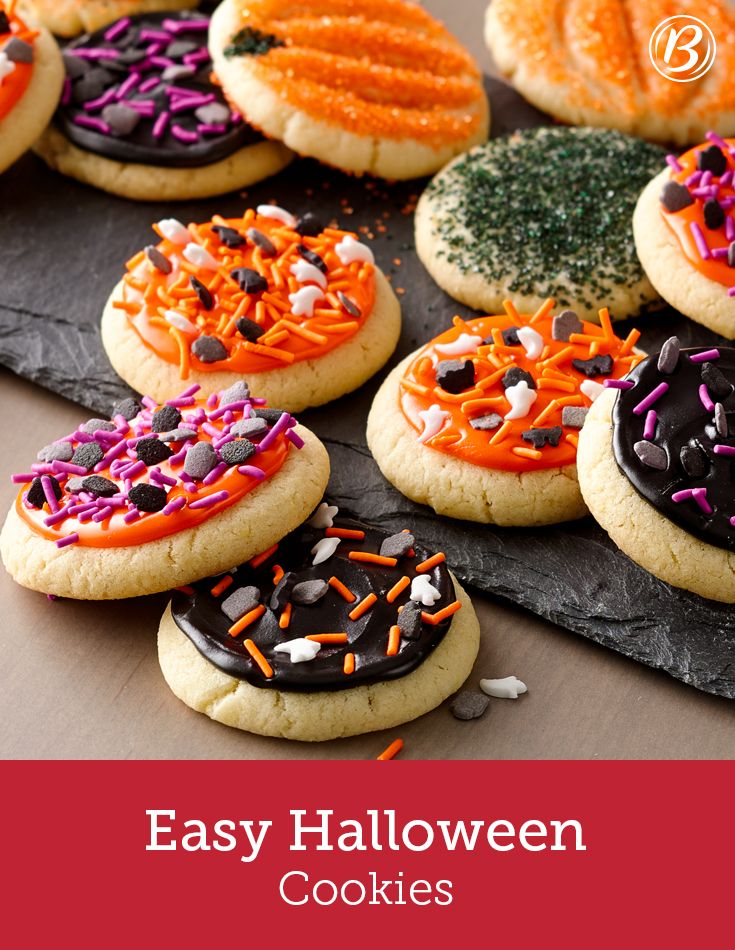 looking for ways to get in the halloween spirit everyone will love decorating these sugar - Betty Crocker Halloween Cookbook