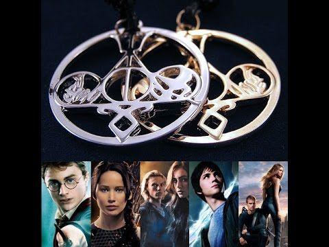 Кулон Сплит Голодные Игры + Гарри Поттер + Дивергент + Орудия смерти + П...
