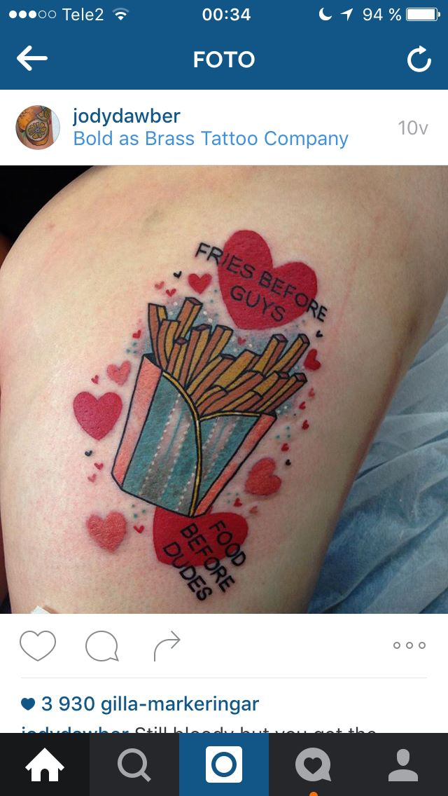 French Fries Tattoo Tattoo Tatuering