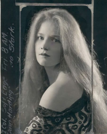 """Ann Harding, 1920s """"Looking at Ann Harding,"""" wrote film historian Mick LaSalle in his book, Complicated Women (St. Martin's, 2001), """"is like looking into clear, deep water. Nothing stands in the way. No stylization, no attitude, no posing. In fact, little about her technique could date her as a thirties actress."""" -moviemorlocks.com"""