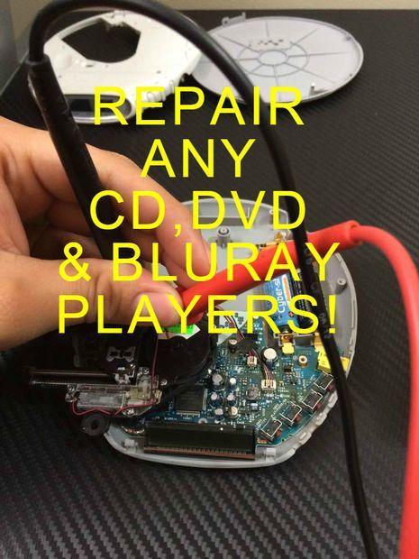 Repair Any CD,DVD, & BLURAY Player