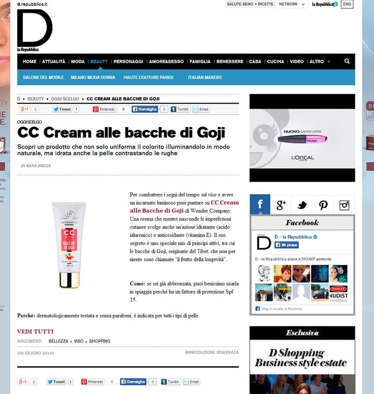 "Wonder CC on ""D Repubblica"""