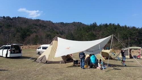 妻が突然「キャンプ推進宣言」。で、始めましたキャンプ♪:2013年04月
